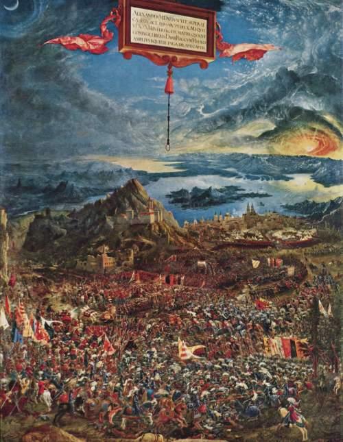 Albrecht Altdorfer_La batalla de Alejandro Magno